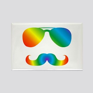 Pride sunglasses Rainbow mustache Magnets