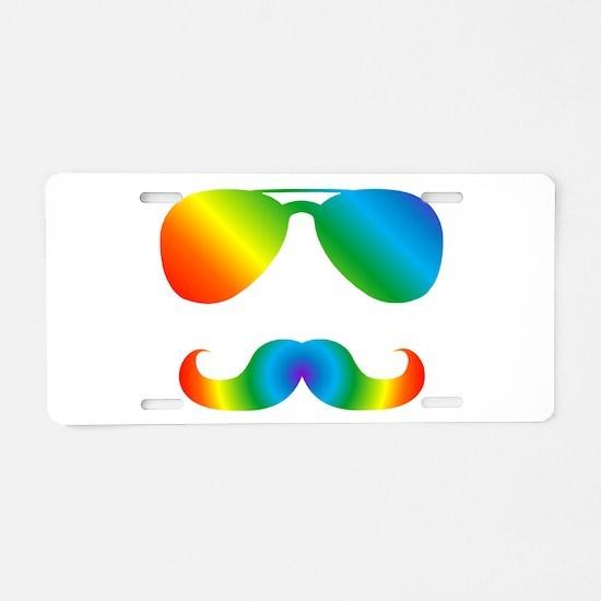 Pride sunglasses Rainbow mu Aluminum License Plate