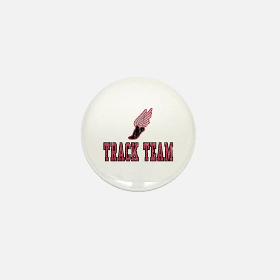 Track Team Mini Button