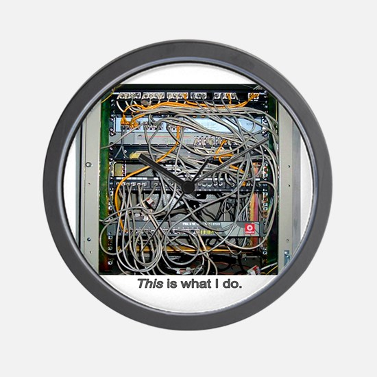 """""""What I Do"""" Wall Clock"""