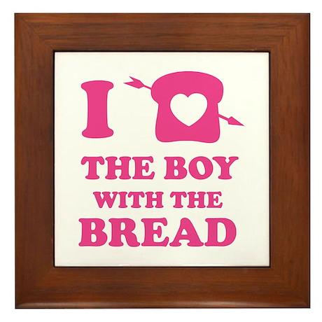 HG Boy with the bread Framed Tile