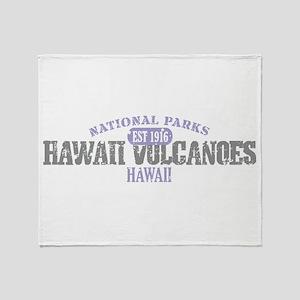 Hawaii Volcanoes Nat Park Throw Blanket