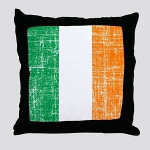 Vintage Irish Flag Throw Pillow
