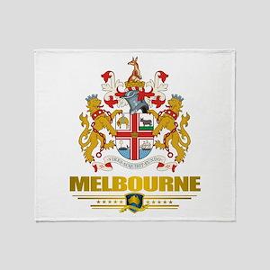 """Melbourne COA"" Throw Blanket"