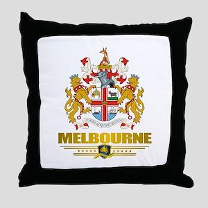 """""""Melbourne COA"""" Throw Pillow"""