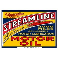 Streamline Motor Oil Wall Art Framed Print