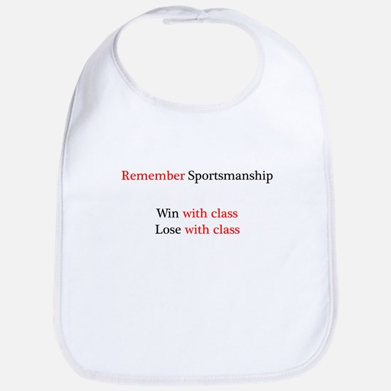 Sportsmanship (Text on front only) Bib