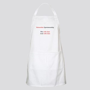 Sportsmanship (Text on front only) Apron