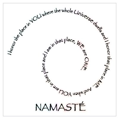 Meaning of Namaste Wall Art Framed Print
