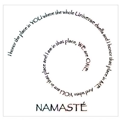 Image is loading QUOTE-TYPOGRAPH-TEXT-NAMASTE-PINK-BOARD-DEFINITION-LARGE-