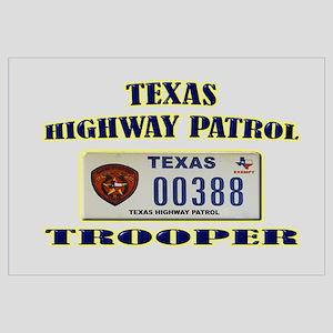 Texas Highway Patrol Wall Art