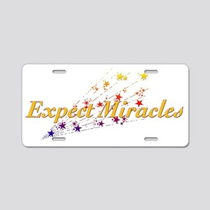Expect Miracles Aluminum License Plate