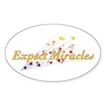 Expect Miracles Sticker (Oval 50 pk)