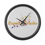 Expect Miracles Large Wall Clock