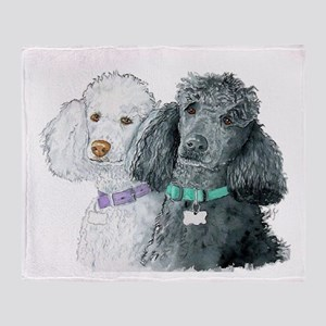 Two Poodles Throw Blanket
