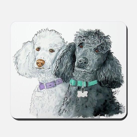 Two Poodles Mousepad