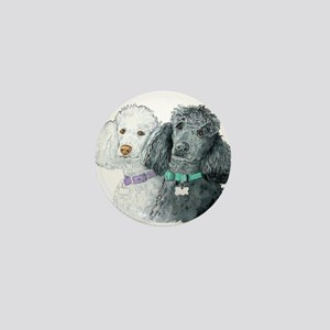 Two Poodles Mini Button