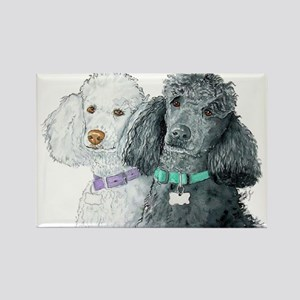 Two Poodles Rectangle Magnet