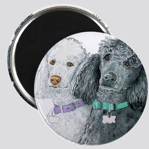 Two Poodles Magnet