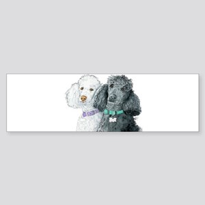 Two Poodles Sticker (Bumper)
