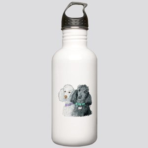 Two Poodles Stainless Water Bottle 1.0L