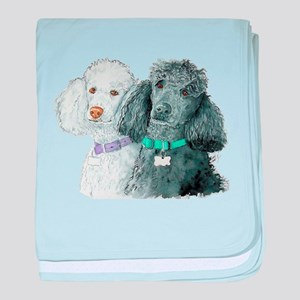 Two Poodles baby blanket