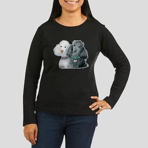 Two Poodles Women's Long Sleeve Dark T-Shirt