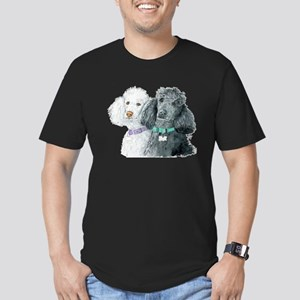Two Poodles Men's Fitted T-Shirt (dark)