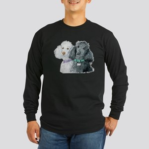Two Poodles Long Sleeve Dark T-Shirt