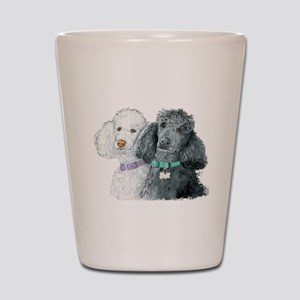 Two Poodles Shot Glass