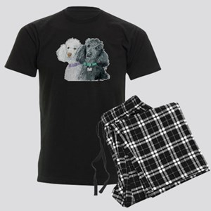 Two Poodles Men's Dark Pajamas