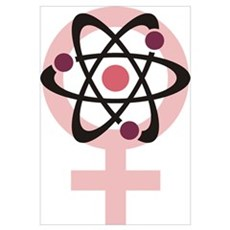 Female Scientist Wall Art Canvas Art