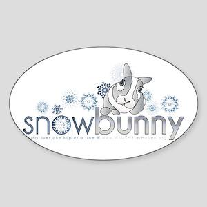 Snow Bunny Oval sticker
