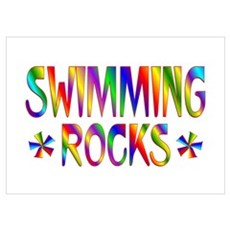 Swimming Wall Art Poster