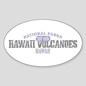 Hawaii Volcanoes Nat Park Sticker (Oval)