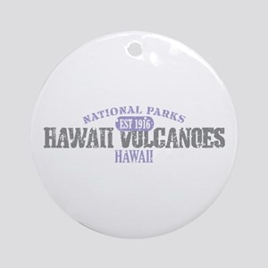 Hawaii Volcanoes Nat Park Ornament (Round)