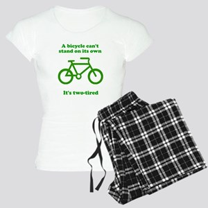 Bicycle Stand On Its Own Women's Light Pajamas