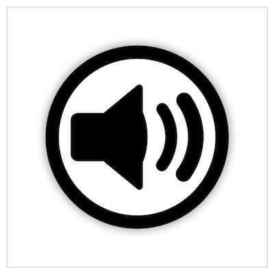 Audio Speaker Wall Art Poster