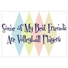 Volleyball Players Friends Wall Art Poster