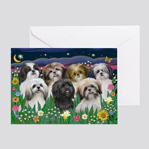 7 Shih Tzu Cuties Greeting Card