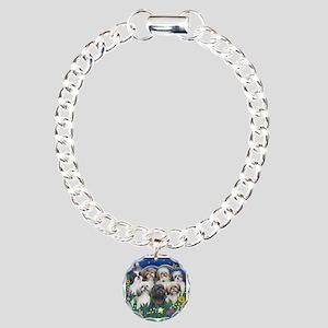 7 Shih Tzu Cuties Charm Bracelet, One Charm