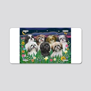 7 Shih Tzu Cuties Aluminum License Plate