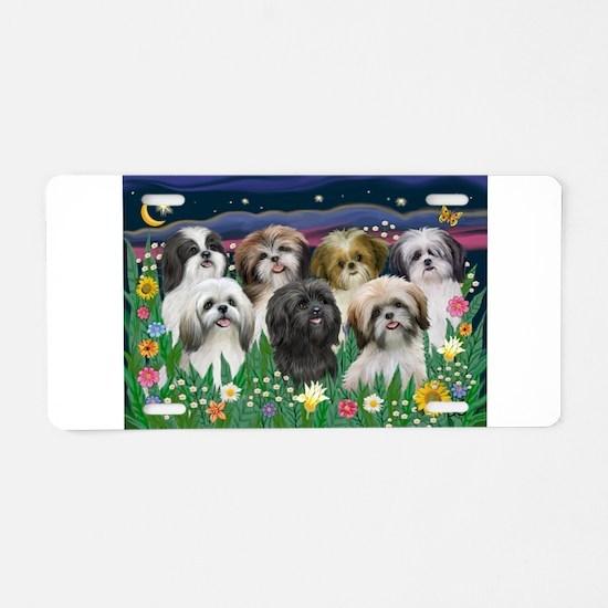 7 Shih Tzu Cuties Aluminum License Plate