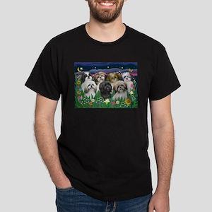 7 Shih Tzu Cuties Dark T-Shirt