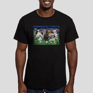 7 Shih Tzu Cuties Men's Fitted T-Shirt (dark)