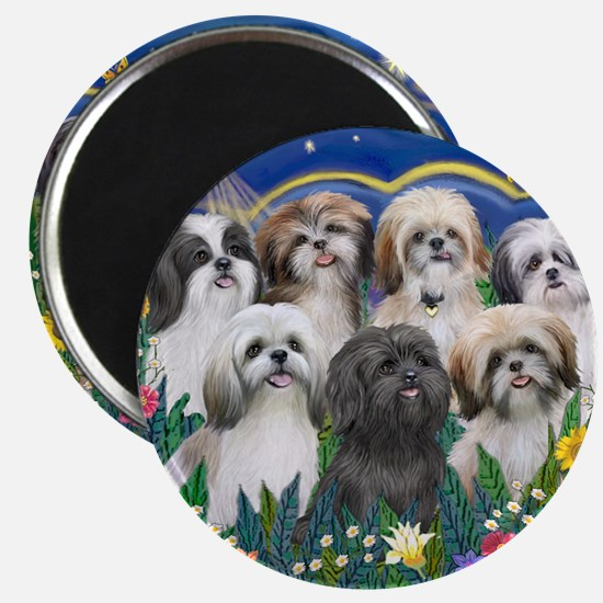"7 Shih Tzu Cuties 2.25"" Magnet (10 pack)"