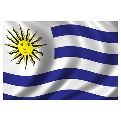 Flag of Uruguay Wall Art Canvas Art