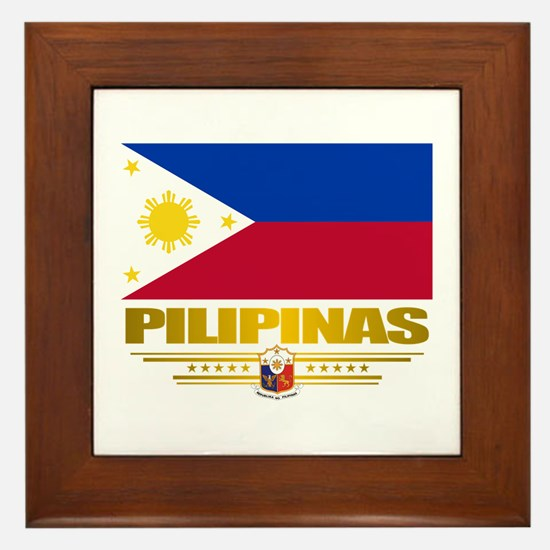 """""""Pilipinas"""" Framed Tile"""