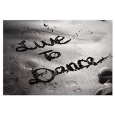 LIVE TO DANCE - ART PRINT The Dance Lounge Framed Print