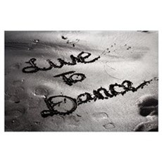 LIVE TO DANCE - ART PRINT The Dance Lounge Poster